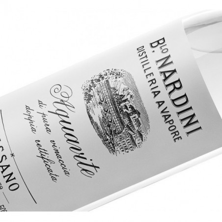 Grappa Nardini Acquvite Bianca 50 %  Bortolo Nardini 1 L.