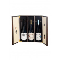 GIFT BOX - ELEGANT WOODEN BOX  with PRECIOUS ACCESSORIES FOR SOMMELIER AND WINE COLLECTION SOUTH TYROL FRANZ HAAS
