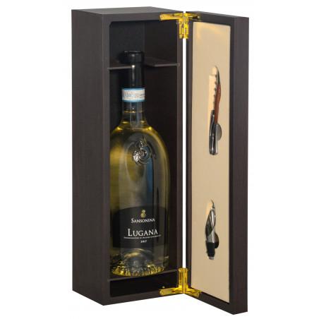 Gift box - Elegant wooden box with precious Sommelier accessories and  Lugana D.O.C. 2017 Sansonina - Zenato