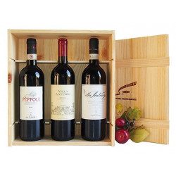 GIFT PACKAGE: Original wooden box -La Tradizione- with the wines of the Antinori