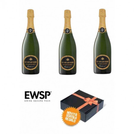 Gift box - 3 Bt. Franciacorta Brut Cuvée n. 7  - Lo Sparviere